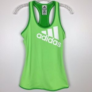 Adidas Tank Top Racerback Green White Small